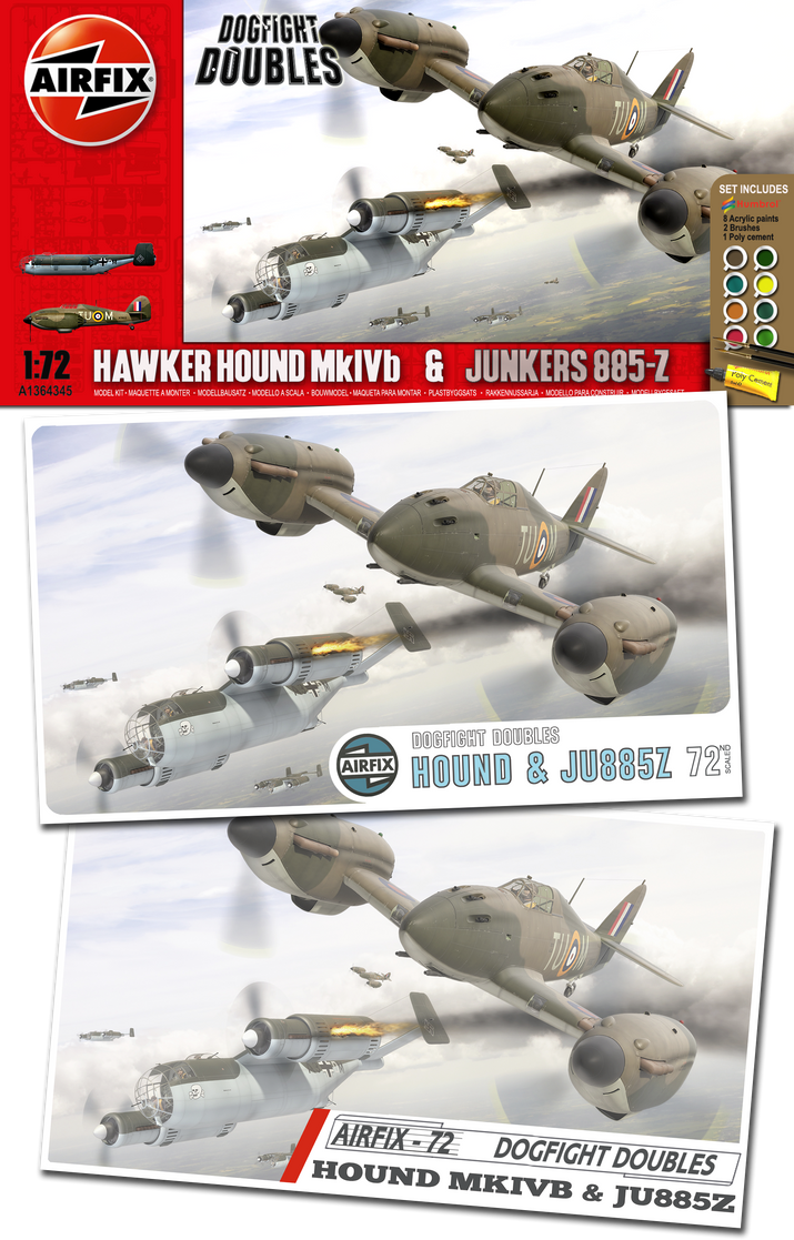 Hawker Hound and JU885-Z Airfix Dogfight Doubles by yereverluvinuncleber