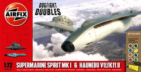 Airfix Dogfight Double Haunebu and Spirit MkI