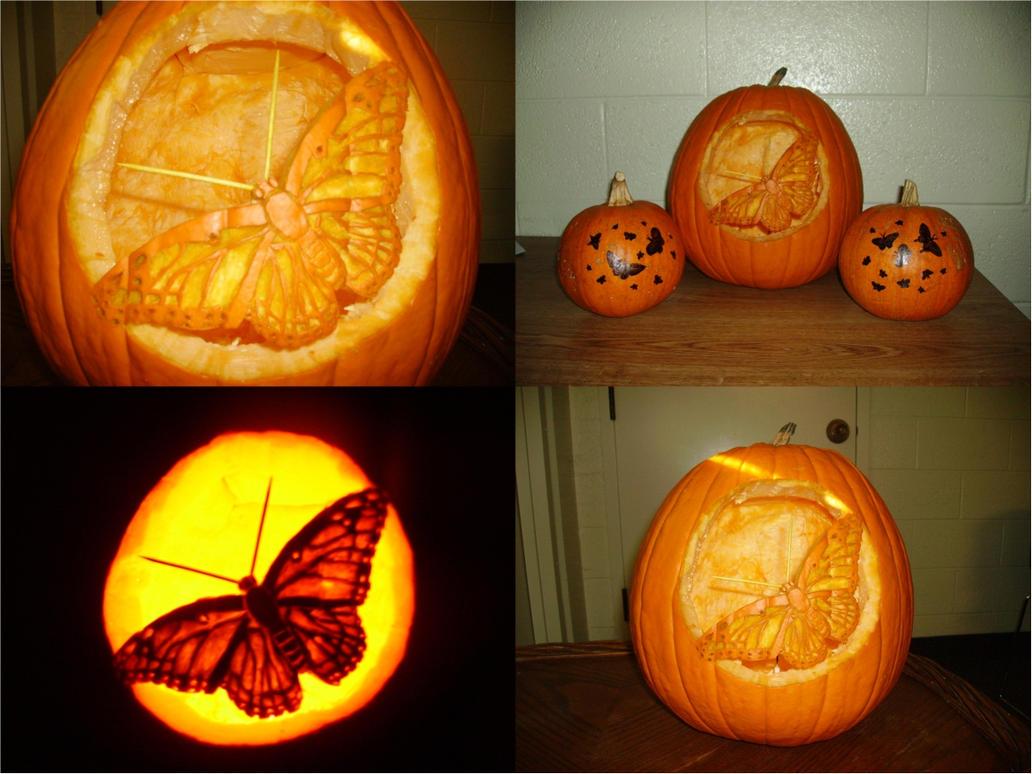 Butterfly Jack-O-Lantern by ATreeFullOfStars