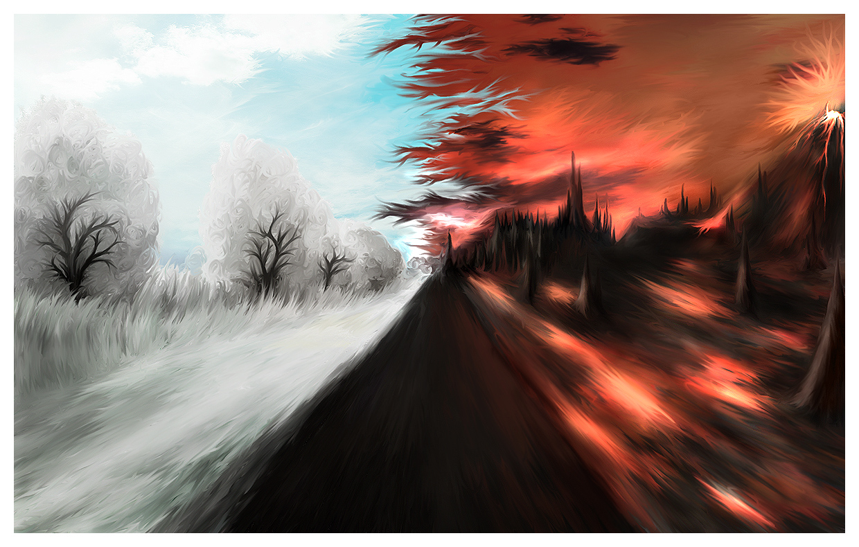 Speedpaint - Choose your path. by Uribaani