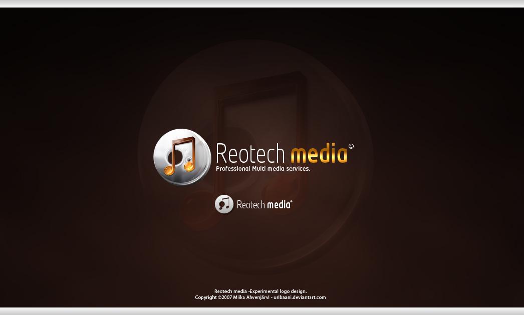 Reotech Media -Logotype design by Uribaani