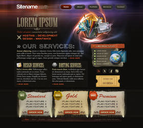 Agency, hosting -site template