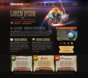 Agency, hosting -site template