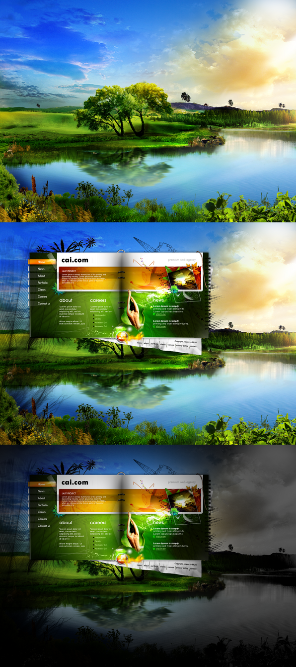web agency web design project by webdesigner1921