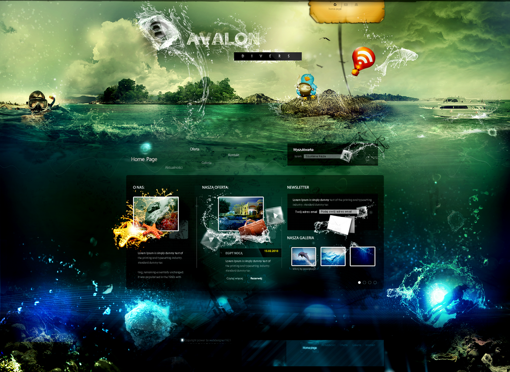 avalon site by webdesigner1921 on deviantart