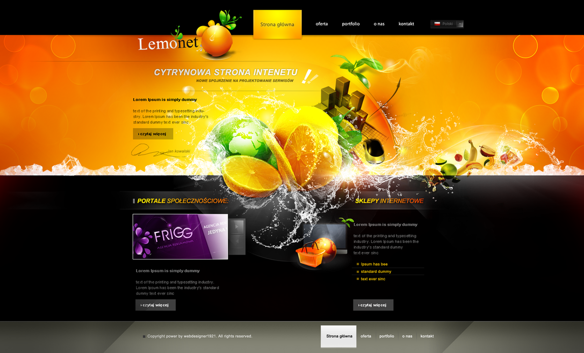 Lemonet homepage by webdesigner1921 on deviantart for Home design ideas website
