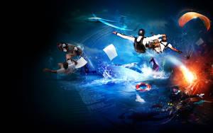 extreme sport ilustration 2 by webdesigner1921