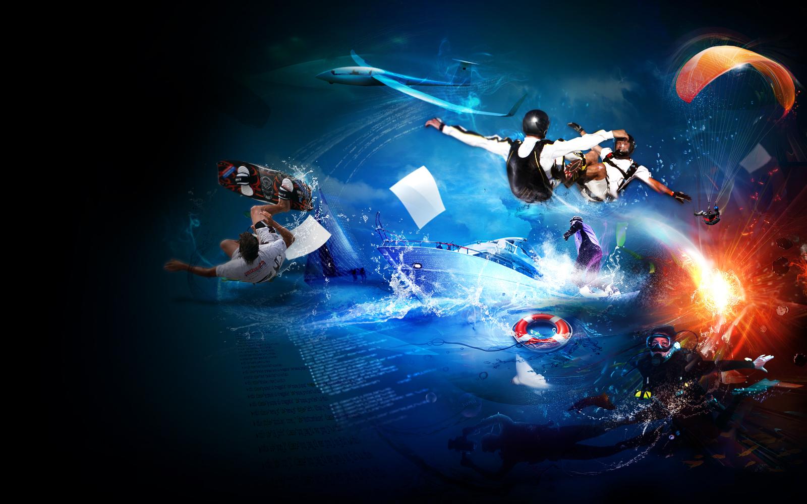 extreme sport ilustration 2