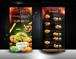 Chicken King ulotka by webdesigner1921