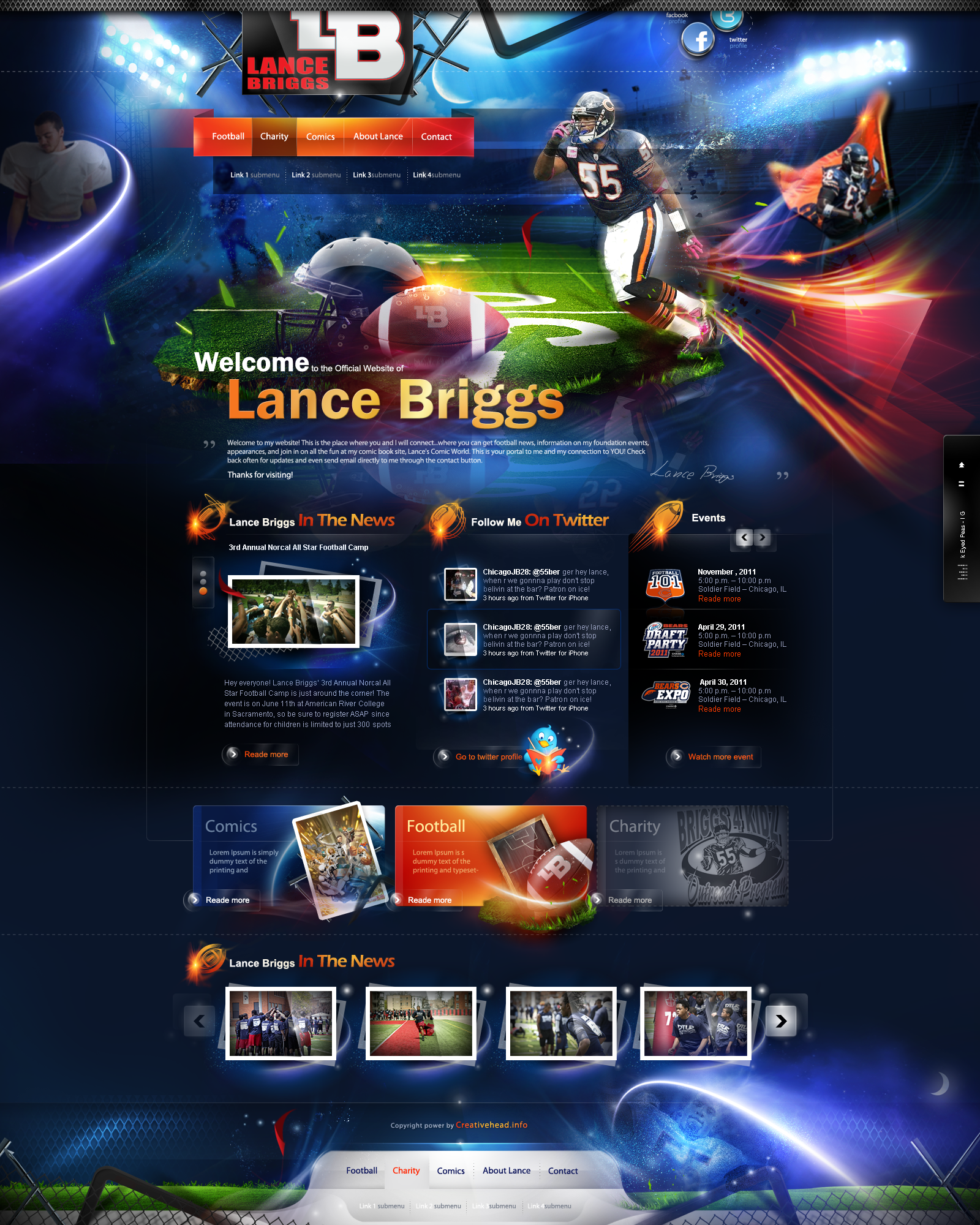 Lance Briggs website by webdesigner1921