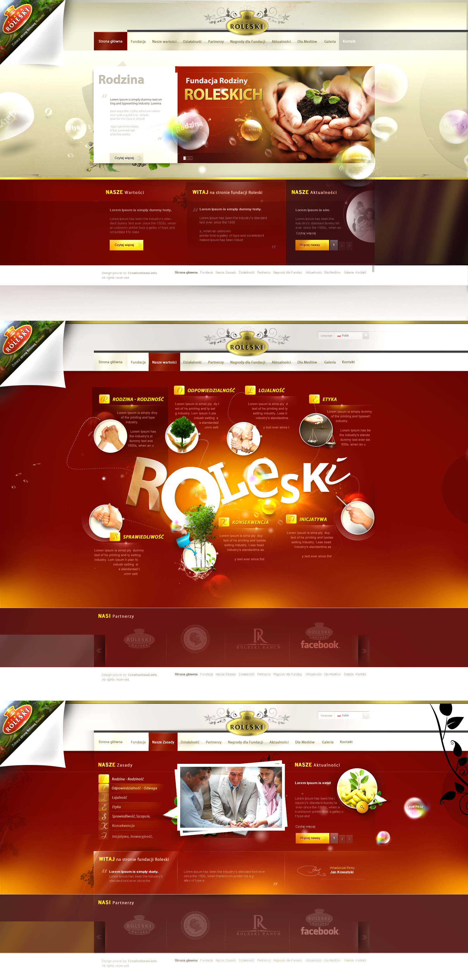 Fundacja Roleskich - design site by webdesigner1921