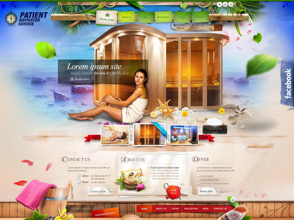 Patient Navigator Service - (sauna website) by webdesigner1921