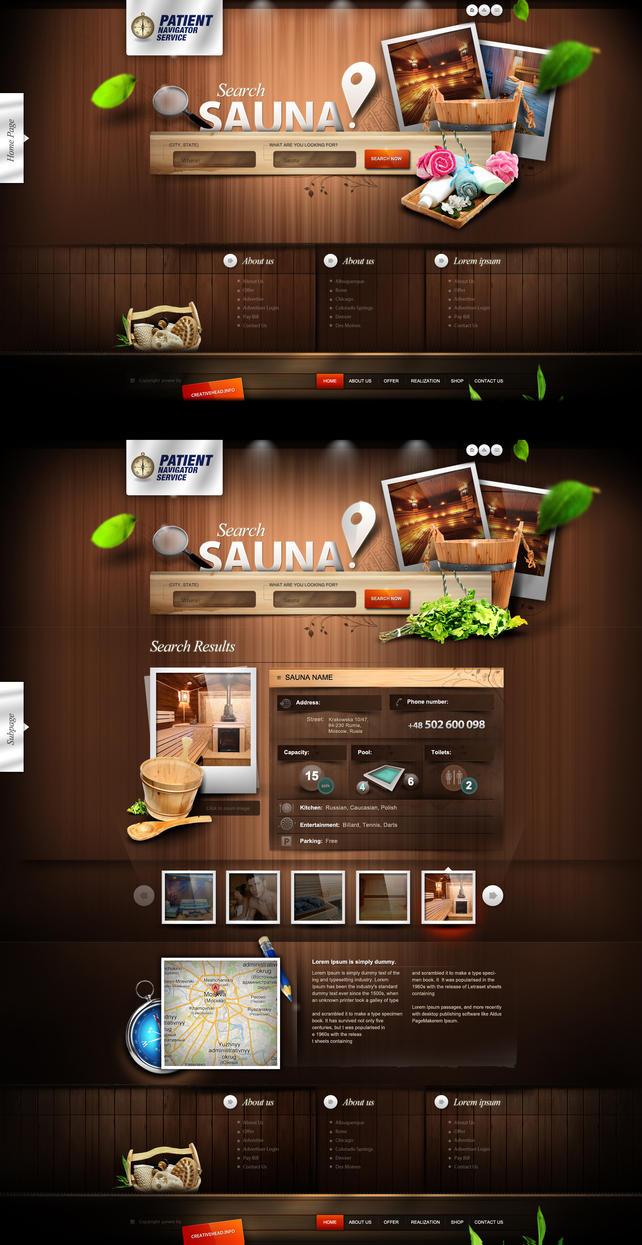 Patient Navigator Service - (sauna website) - ver2 by webdesigner1921