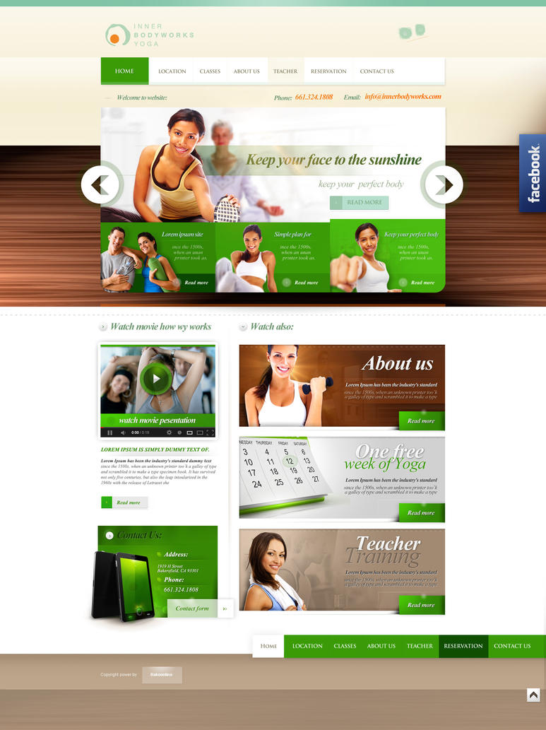Yoga Webssite Inner Body Works Yoga By Webdesigner1921 On Deviantart