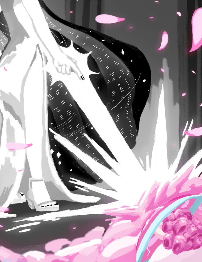 Here's a hypothetical piece of White Diamond and Rose Quartz/Pink Diamond. This can/will never happen in the show, but I though it made for a fun piece. Go figure.  -----Program: Adobe Ph...