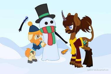 Honeydew's Snowman by Spitfire-SOS