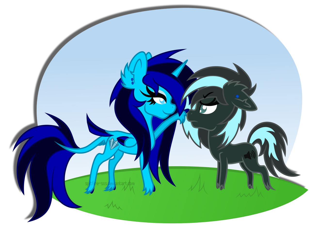 Commission - Vyvyan and Black Ice by Spitfire-SOS