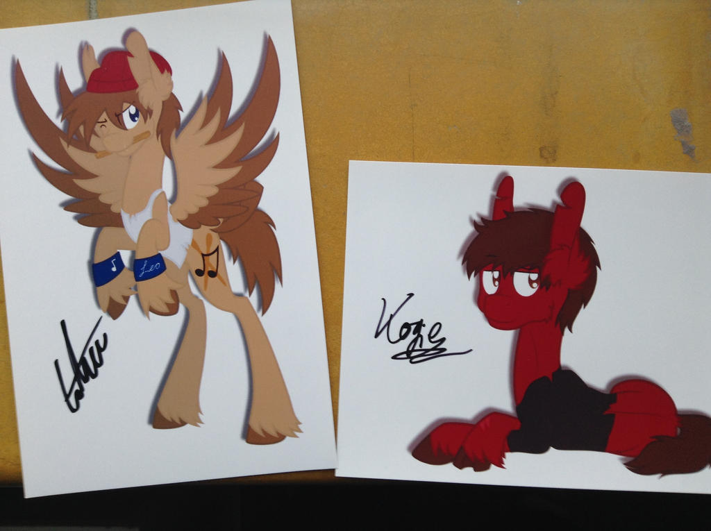 Signed pics of Kogie and Leo by Spitfire-SOS