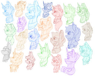 All the Yogponies by Spitfire-SOS
