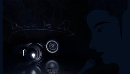 C4D Headphones+PenTool Singer by david-designs