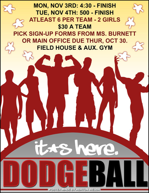 Dodgeball Poster by ShadowMasDodgeball Tournament Poster