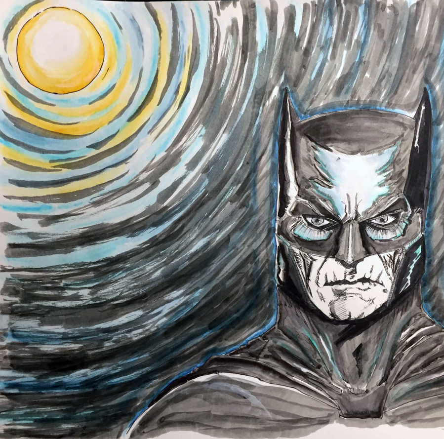 BatMan In The Moon by leviticusprime
