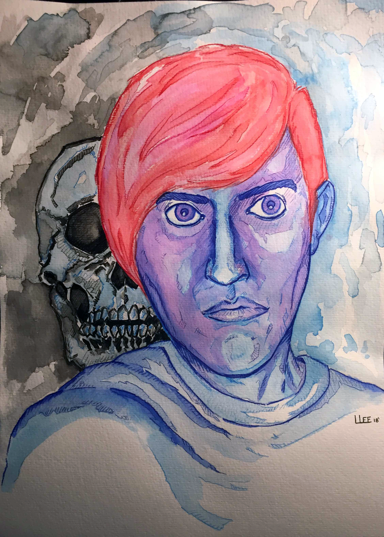 Self Portrait With Death by leviticusprime