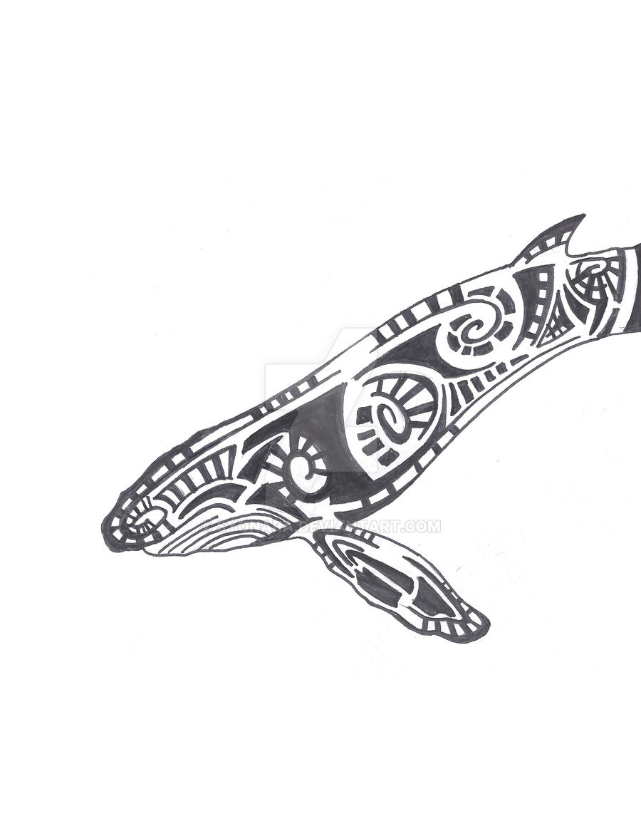 tribal humpback whale by syonara on deviantart. Black Bedroom Furniture Sets. Home Design Ideas