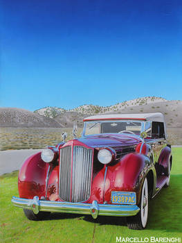 American Classic Car DRAWING by Marcello Barenghi