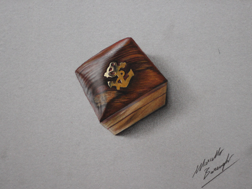Nautical wooden box DRAWING by marcellobarenghi