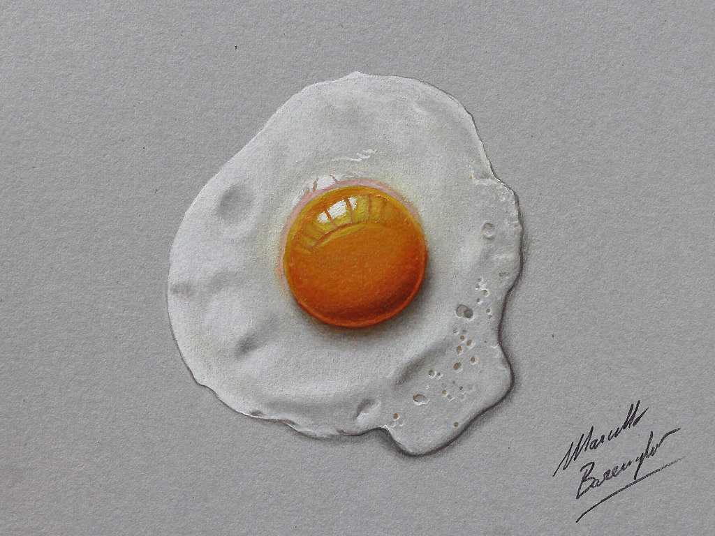 Fried egg by marcellobarenghi