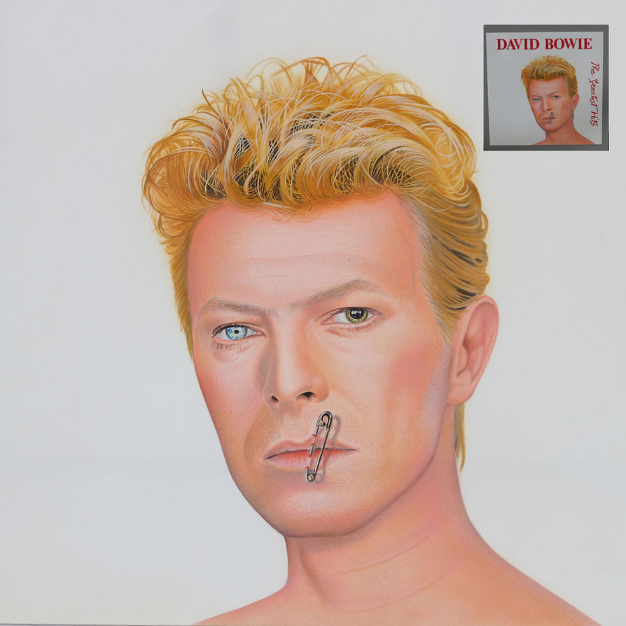 David Bowie portrait by Marcello Barenghi 1992 by marcellobarenghi
