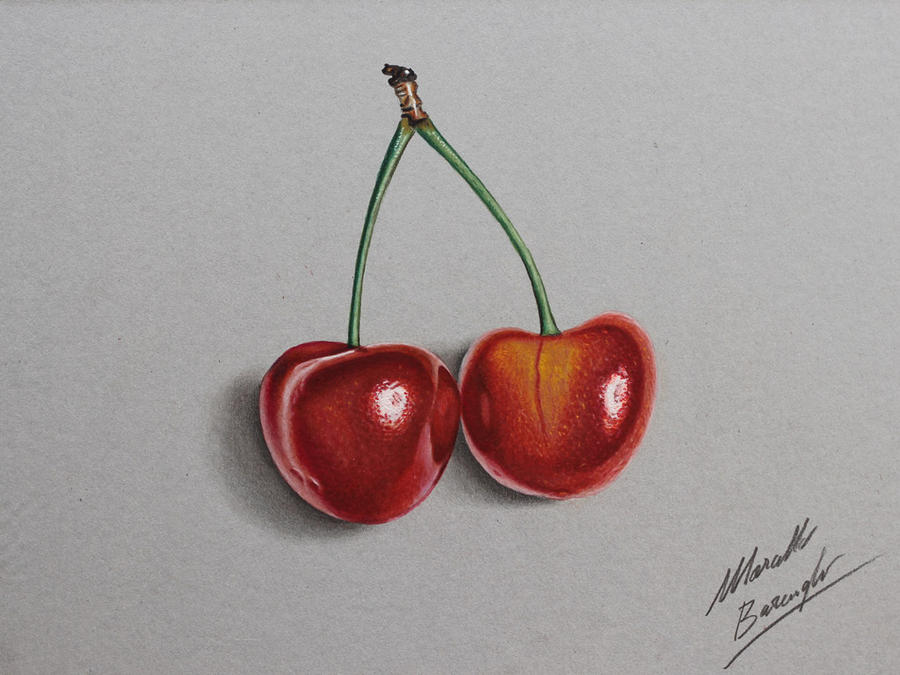 Just two cherries by Marcello Barenghi by marcellobarenghi