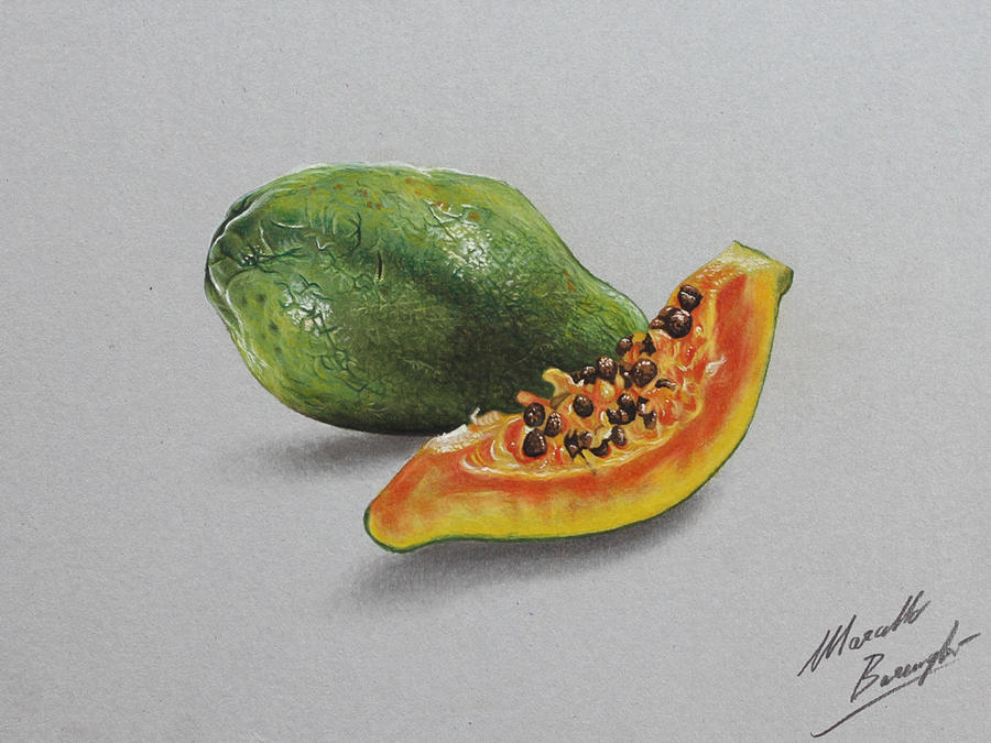 Papaya DRAWING by marcellobarenghi