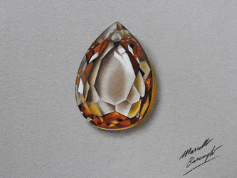 Yellow golden topaz DRAWING by marcellobarenghi