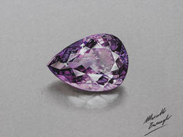 Amethyst DRAWING by Marcello Barenghi by marcellobarenghi