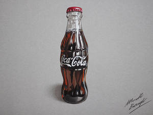 Coca-Cola bottle (drawing by Marcello Barenghi)