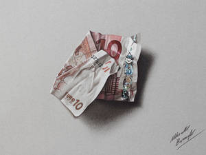 10 euro note DRAWING by Marcello Barenghi