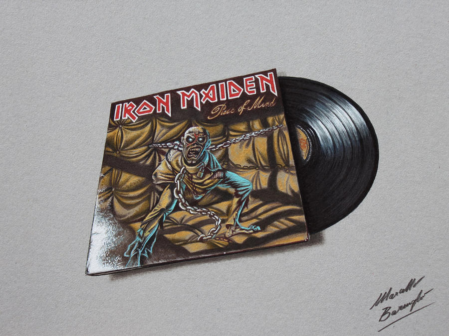 Piece of Mind Iron Maiden DRAWING vinyl and cover by ...