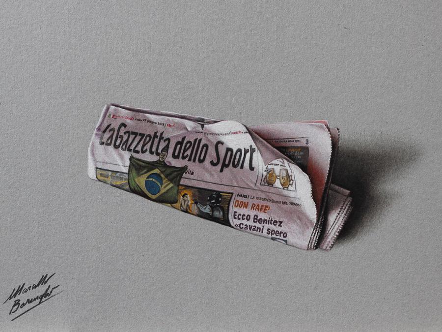 La Gazzetta dello Sport DRAWING Marcello Barenghi by marcellobarenghi