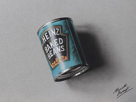 Can of beans DRAWING by Marcello Barenghi by marcellobarenghi