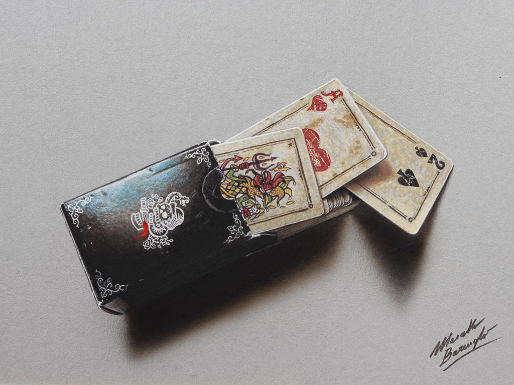 Set of playing cards 2 DRAWING Marcello Barenghi by marcellobarenghi