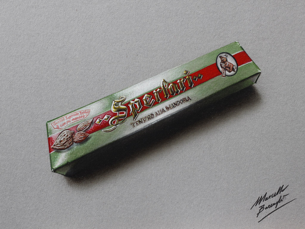 Torrone Sperlari DRAWING by Marcello Barenghi by marcellobarenghi