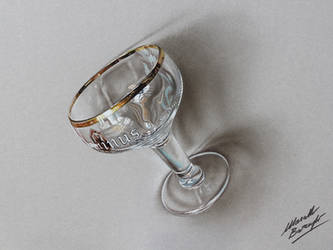 A beer goblet DRAWING by Marcello Barenghi by marcellobarenghi