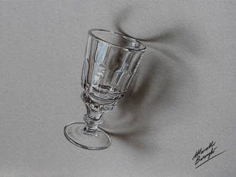 Absinthe glass DRAWING by Marcello Barenghi by marcellobarenghi