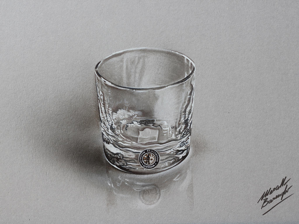 Whiskey glass DRAWING by Marcello Barenghi by marcellobarenghi