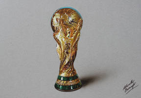 FIFA World Cup Trophy DRAWING by Marcello Barenghi by marcellobarenghi