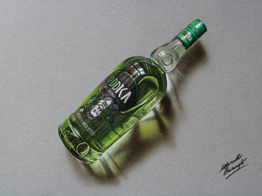 Oddka vodka drawing by marcellobarenghi