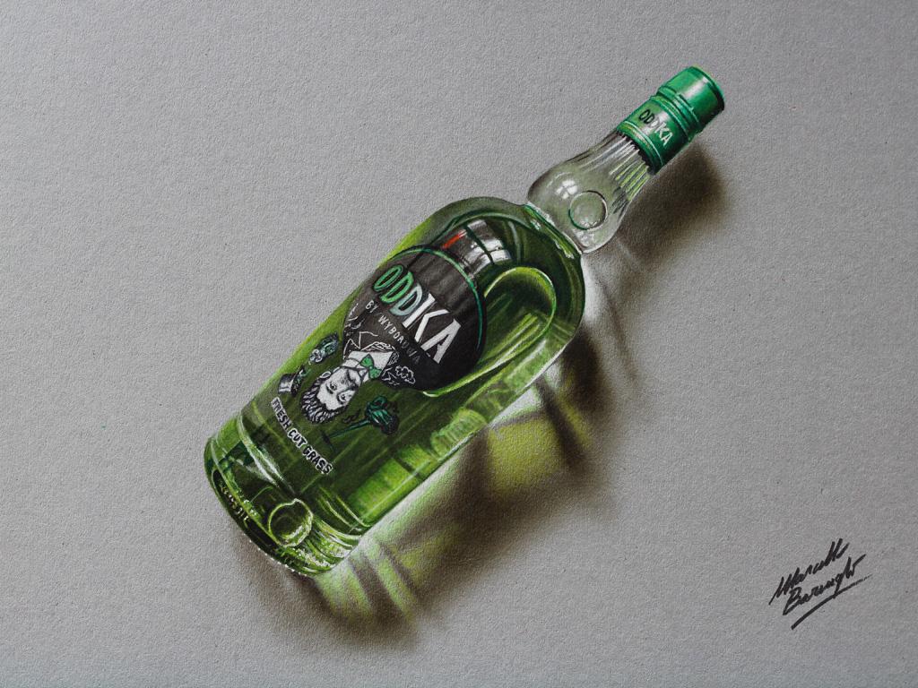 Oddka vodka drawing by marcellobarenghi