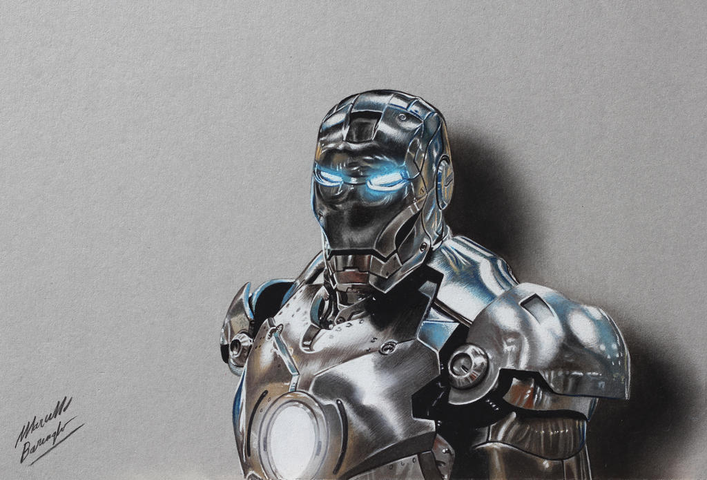 Iron Man DRAWING by Marcello Barenghi by marcellobarenghi